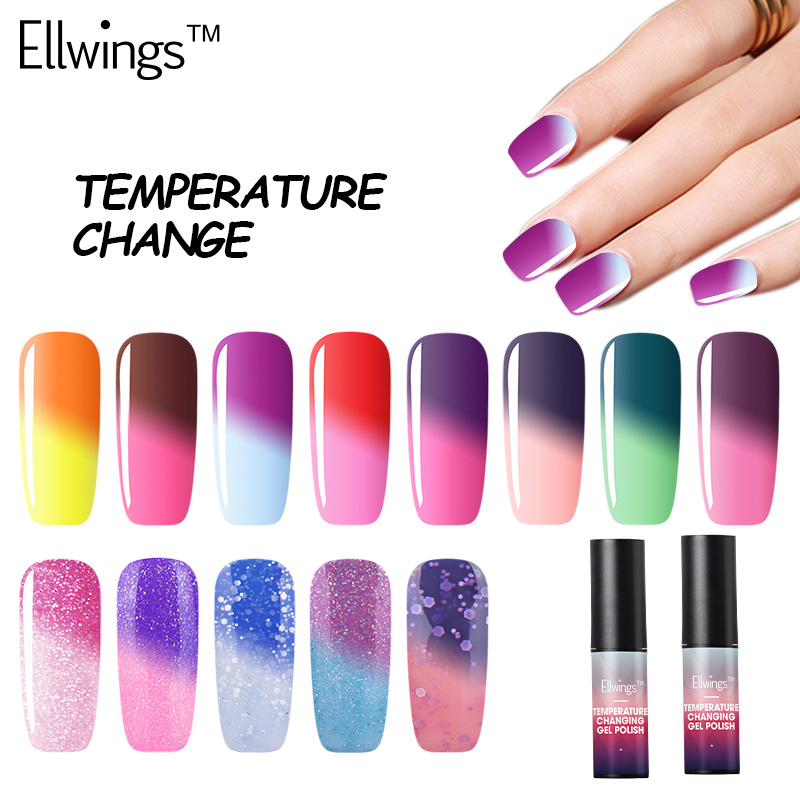 Ellwings 29 Colours Different Chameleon Temperature Change Color Gel Nail Polish LED Lamp Nail High Quality Gel Polish Pick 1