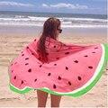 2016 Hot Sale Bath Pool Watermelon Round Beach Towels Cover Ups Round Blanket Bath Towel Serviette De Plage Ronde