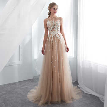 Vestidos De Gala Largos Sleeveless Prom Dresses 2019 Long Floor Length Champagne Party Gowns Robes De Soiree Formal Prom Dress - DISCOUNT ITEM  35% OFF All Category