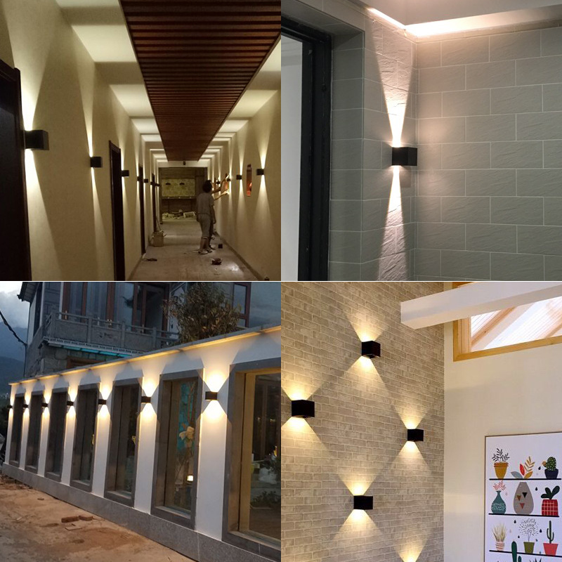 10w Outdoor Waterproof IP65 Wall Lamp Modern LED Wall Light Indoor Sconce Decorative light Porch Garden Yard Light Double Head ...