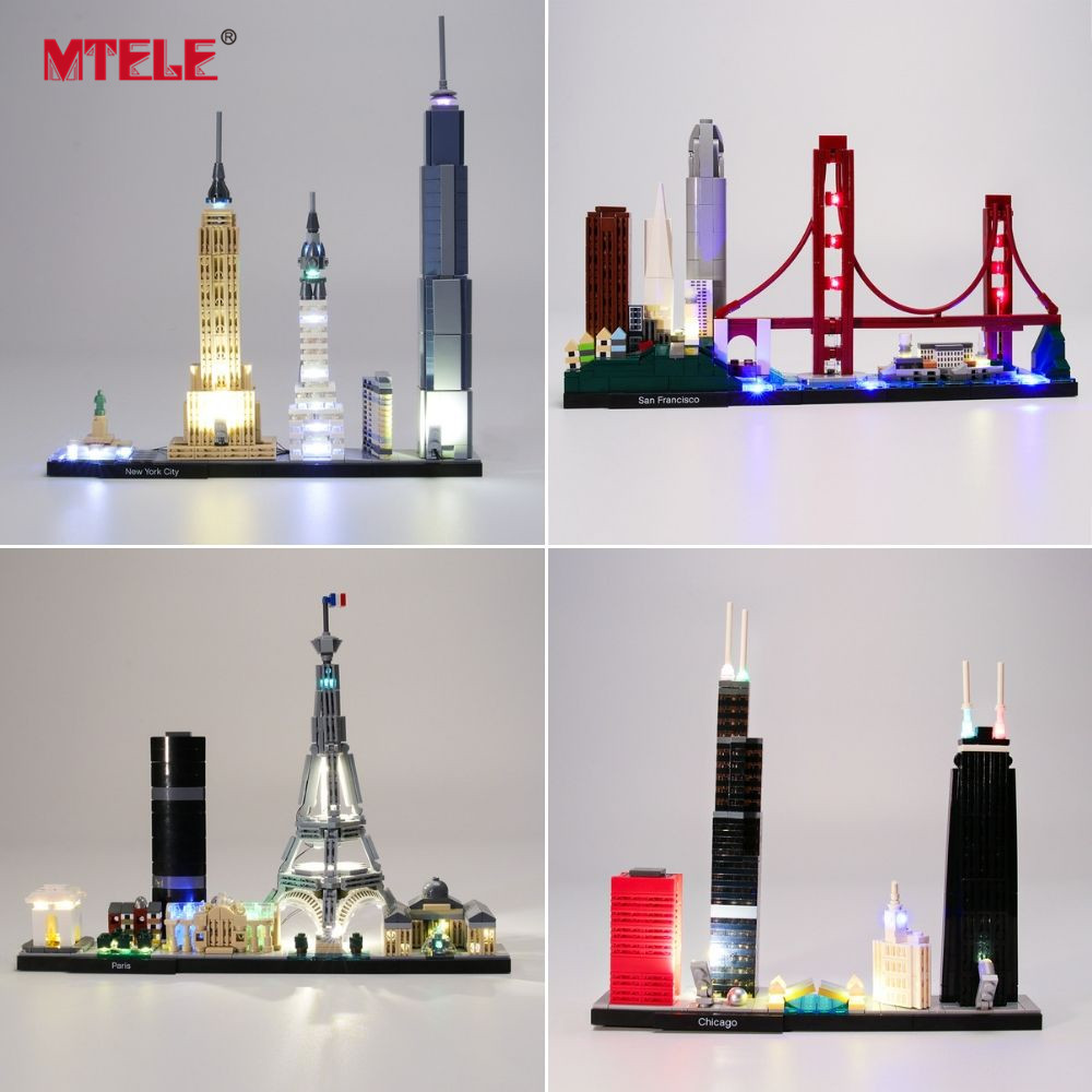 MTELE Light Kit For Architecture Skyline Sydney /Chicago/Las Vegas Compatible With Legos 21026/21027/21028/21030/21032/21042