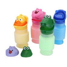 1 Set Potty Training Portable Travel Cartoon Urinal Stretch Car Toilet For Boy&Girl Kids Color