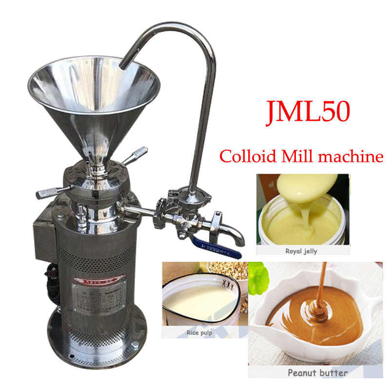 JML50 Colloid mill sesame  coating grinding machine colloid mill peanut butter colloid mill soybean grinding machine 220v