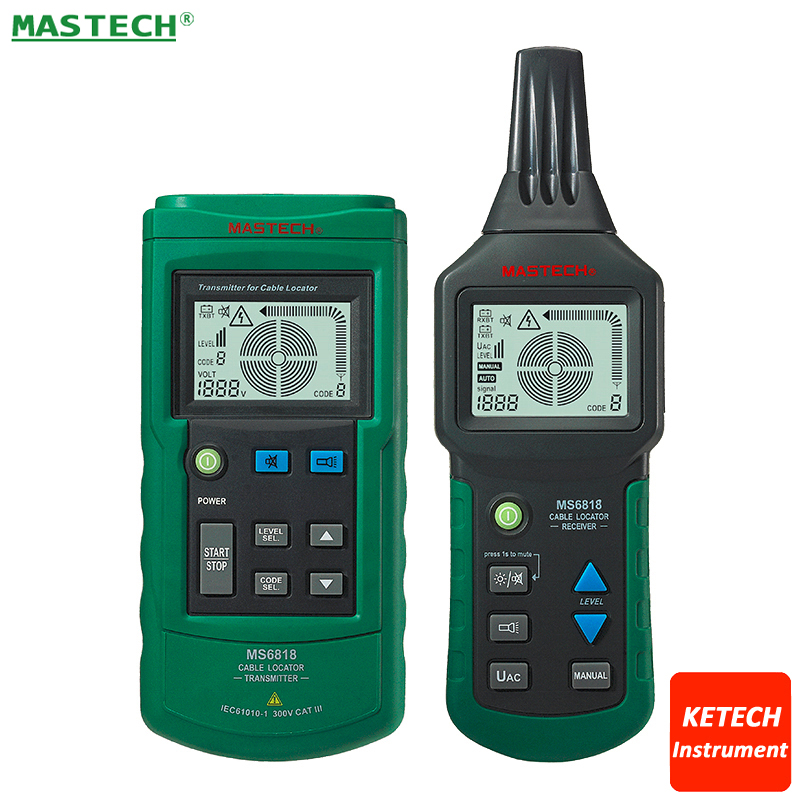 MS6818 Wire Cable Tracker Finder Metal Pipe Locator Detector Tester Circuit Breaker Finders Meter AC/DC 12~400V цена