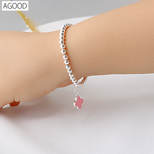 AGOOD 925 sterling silver jewelry bracelets & bangles for women love clove pulseira masculina femme pulseras mujer beads chain