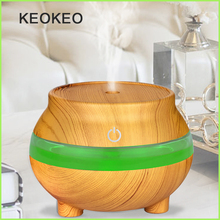 KEOKEO 300ML Air Humidifier USB Aroma Essential Oil Diffuser Purifier 7 Color Change LED Night Light For Home