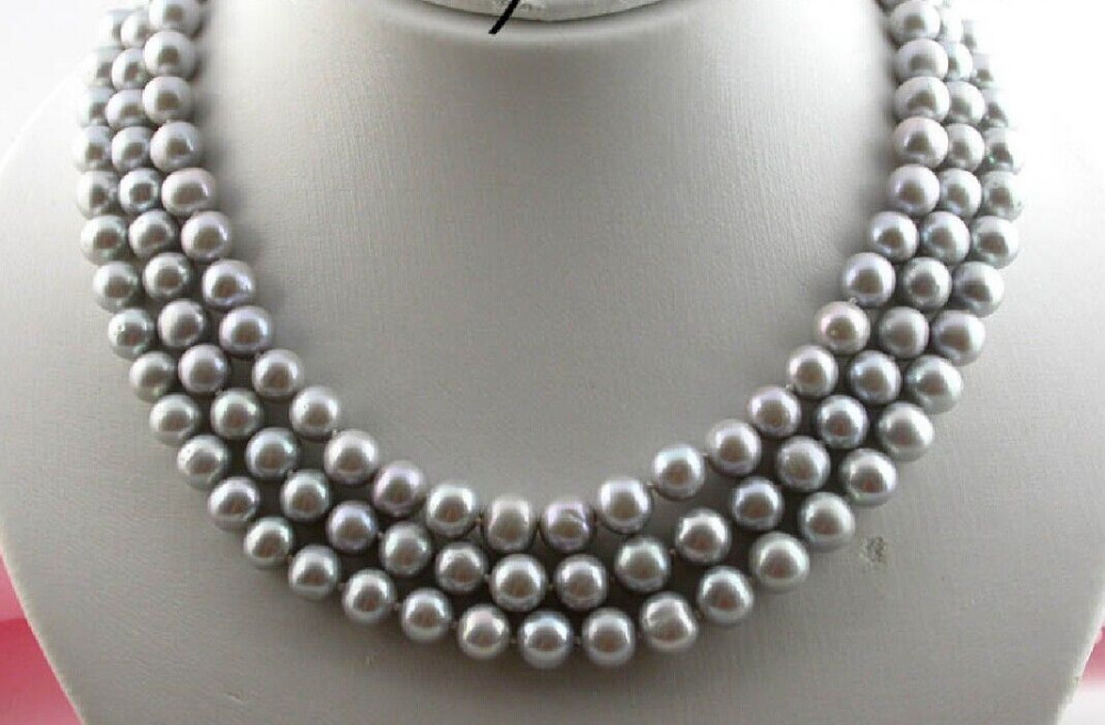 06cffbb424b Free Shipping  new hot 49 Beautiful 9-10MM NATURAL SOUTH SEA GENUINE PEARL  NECKLACE