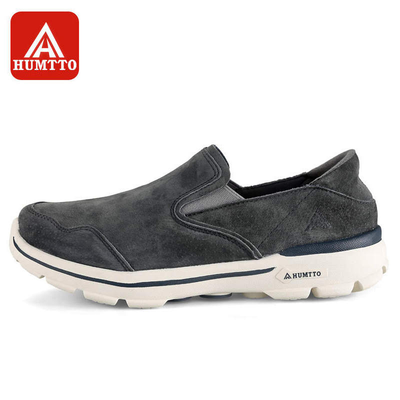 HUMTTO Men Running Shoes Leather Slip-On Breathable Comfortable Light Anti-skid Sneaker Outdoor Athletic Sport Shoes high quality original kids sneaker skid proof cushion running shoes athletic breathable children sport shoes xrkb001
