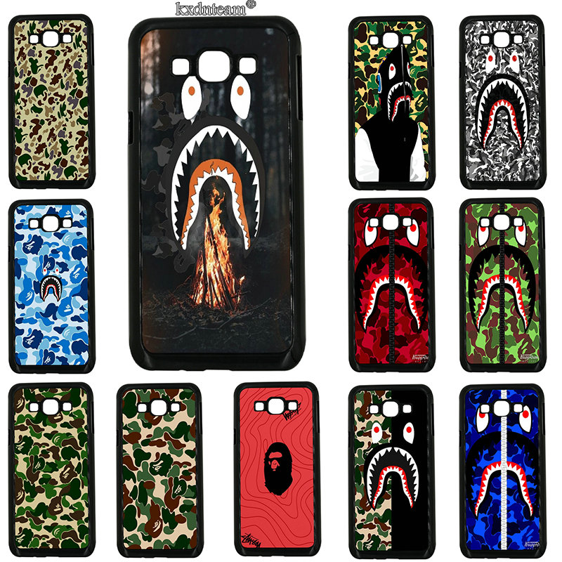 Hard PC Cover for Samsung Galaxy J1 J2 J3 J5 J7 on5 on7 on8 2016 2017 Prime J530 J730 Hot Bapes Shark Mouth Mobile Phone Cases ...