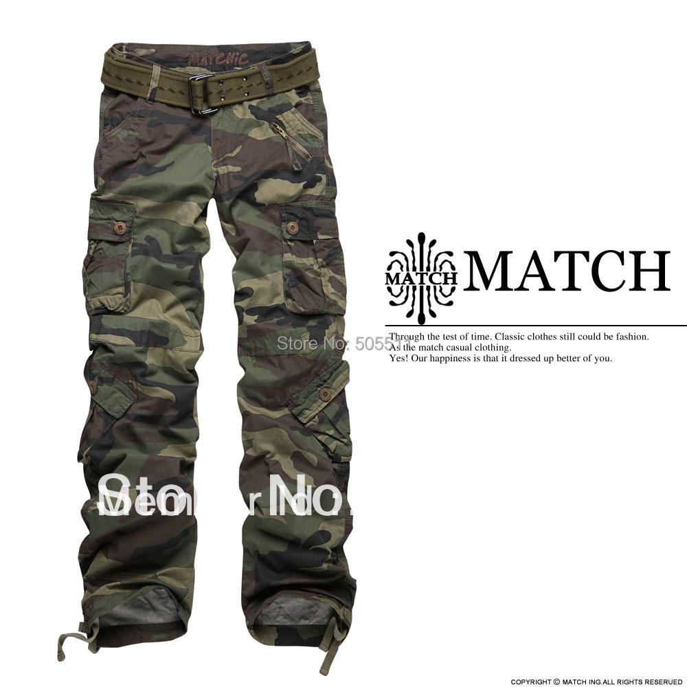 Hottest Matchic women's camouflage cargo pants hiking&camping 2036M
