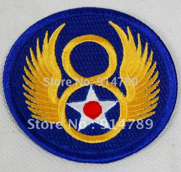 WW2 US 8TH DIVISIONAL PATCHES THE
