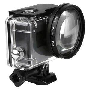 Image 2 - SHOOT 58mm grossissement objectif rapproché objectif Macro pour Gopro Hero 7 6 5 noir coque étanche dorigine Go Pro 6 5 7 accessoires