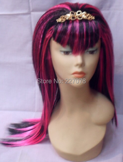 Free Shipping Halloween Child Cosplay Wig Monster High Draculaura Medium Straight Dress Up Costume Wig Pink  sc 1 st  AliExpress.com & Free Shipping Halloween Child Cosplay Wig Monster High Draculaura ...