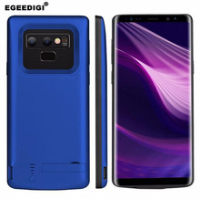 Egeedigi 5000mAh Silicon Battery Case For Samsung Note 9 Stand Holder USB Power Bank External Charger Backup Cover For All Phone все цены