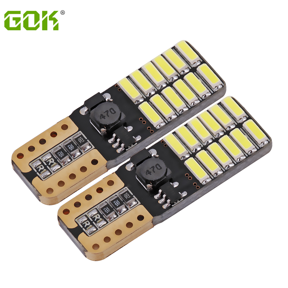 1 X T10 led 24smd W5W led canbus 24led 4014 SMD Canbus NO ERROR 12V Car Auto Bulb Indicator Light Parking Lamp White light