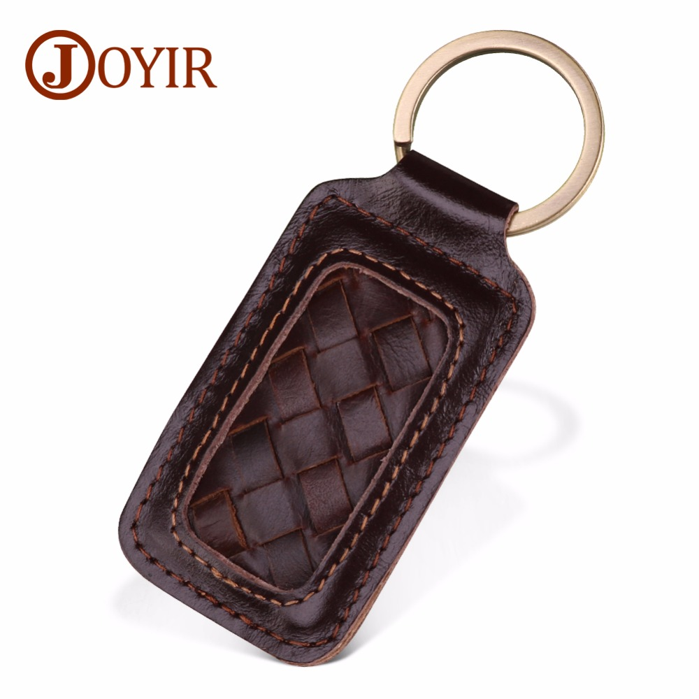 JOYIR Genuine Leather Keychain Kintting Car Key Ring Multifunctional Tool Women Men Fashion Key Chain Key Holder High Quality