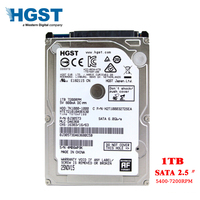 HGST Brand Laptop PC 2.5 1TB Sata2 Sata3 3Gb/s 6Gb/s Notebook hdd hard disk drive 1000GB 16/32mb 5400RPM 7200RPM free shipping