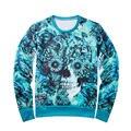 Harajuku printed Hoodies Men Europe and America hip hop fashion Skull Sweatshirt Unisex Brand Hoodies Fashion Pullovers