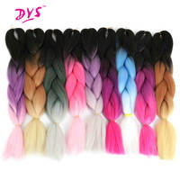 Deyngs 24inch Three Tone Ombre Kanekalon Jumbo Braiding Hair Extensions Synthetic Crochet Braid Hair High Temperature