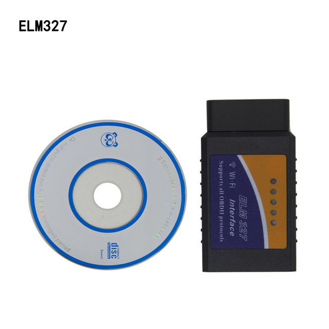 Hot Sell Mini ELM327 OBD2 WIFI Auto Scanner OBDII 2 Car ELM327 Tester Diagnostic Tool For Android And iPhone iPad IOS Windows PC