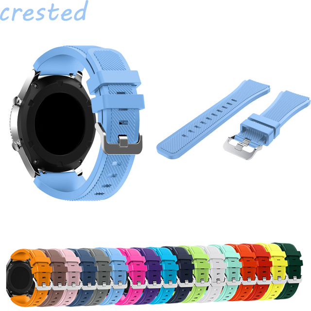 22mm Silicone strap for Samsung Gear S3 Frontier/Classic band smart watch bracel