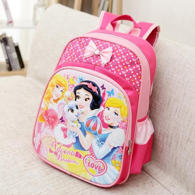 Hot Snow White Girls School Bags Princess Schoolbags Children Cartoon Elsa Backpack  Kids Bookbag Mochila Escolar Infantis 48e5aa9eb3d7f