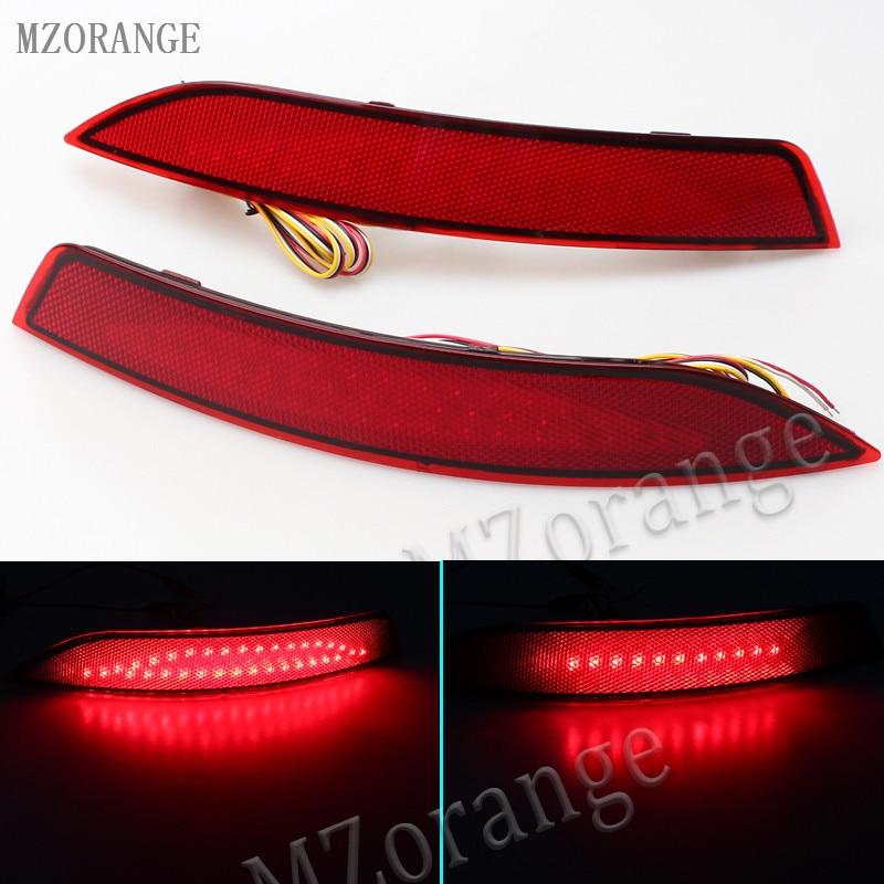 MZORANGE Braking Light LED For VW Sagitar 2012 2015 Rear Bumper Reflector Light LED Tail Light