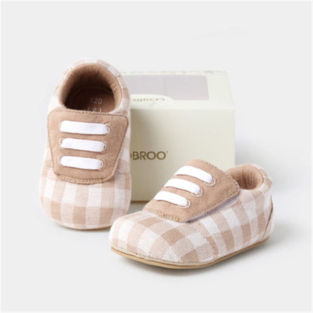 Soft Sole Baby First Walker Shoes Anti Slip Baby Boy Shoes 1 Year Autumn Plaid Cute Baby Shoes Girls Winter Warm 80A1055