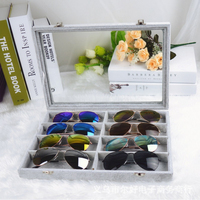 Mordoa 8Slot Grid Eyewear Sunglasses Case Sunglass Display Box Eyeglass Accessories Reading Glasses Jewelry Storage Tray