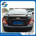 Venda quente ABS Sem Pintura Cor Traseira Do Carro tronco Spoiler Para Aveo Sedan com Semáforo