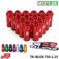 Wheel Nuts Blox Forged 7075 Aluminum Wheel Lug Nuts P 1.25, L: 50mm 20Pcs/Set  TK-BLOX-750-1.25-FS