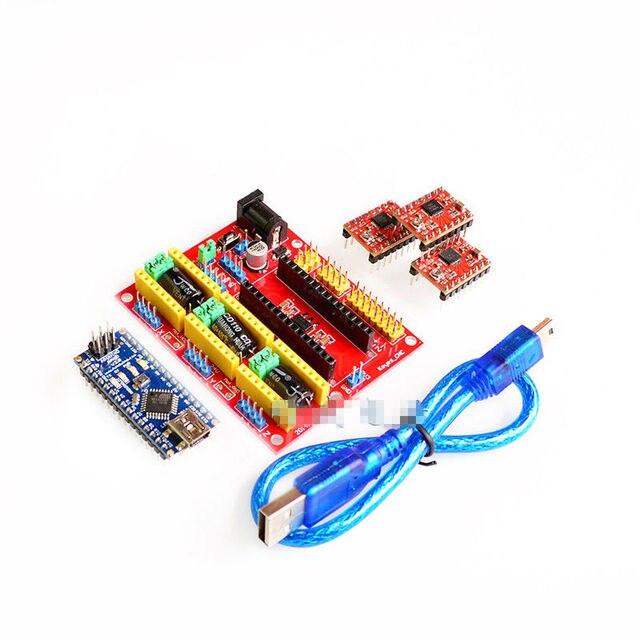 Elecrow 3D Printer Kit for Arduino CNC Shield V4+Nano 3.0+A4988 ...