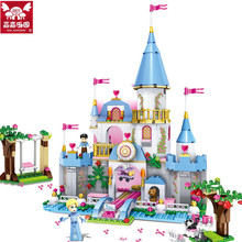 669pcs City Girl Friends Cinderella Romantic Castle Building Blocks Assembly Princess Dream House Bricks Toys Gift