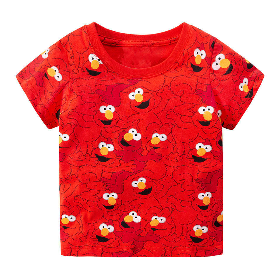Jumping Meters 2018 Shirt Tops Baby Summer Clothes 100% Kids T-shirts For Boys Clothing Children Short Sleeve elmo sesame street ...