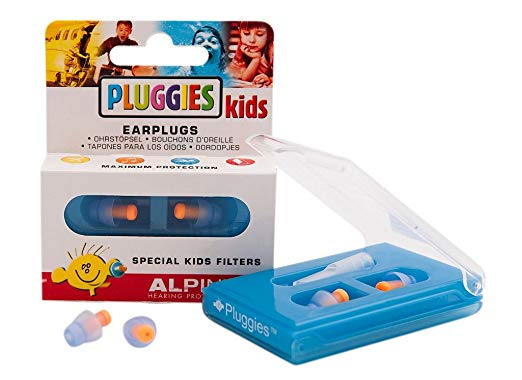 Alpine Pluggies Free shipping kid's ear plugs with special filters noise reduction swim bath shower soft comfortable