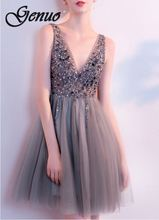 Genuo 2019 New Women Hollow Out Retro Lace Ladies Mini DRess Casual Beach dress Fashion Dress