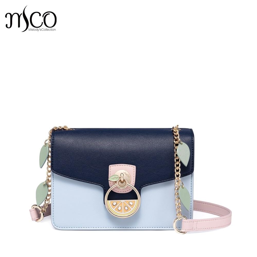 Designer luxury Women s Leather Messenger Bags Ladies Fashion Fruit Chains Purse Female Flap Flower Panelled