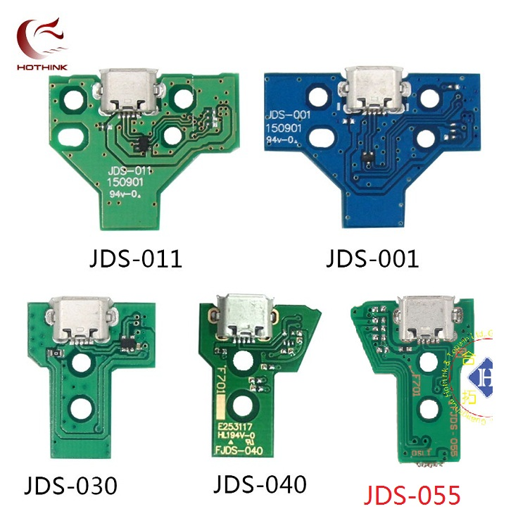 HOTHINK 25pcs/lot JDS-001 JDS-011 JDS-030 JDS-040 JDS-055 USB Charging Port Board For PS4 Controller DualShock 4 Repair Parts