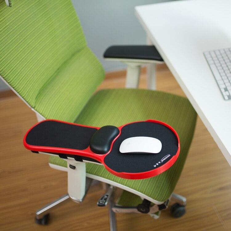 Ergonomic Memory Foam Armrest Mouse Pad Rotatable Adjustable Computer Desk Chair Extender Armrest Wrist Rest for