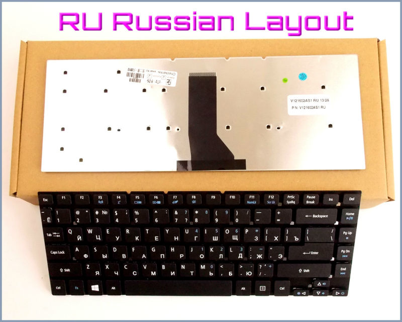 New Keyboard RU Russian Version for <font><b>Acer</b></font> <font><b>Aspire</b></font> 3830 3830G 3830T <font><b>3830TG</b></font> 4830T 4830TG 4830 4830G 4755 4755G Laptop Black image