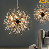 NANS vintage lights retro loft spark fireworks Acrylic LED Pendant Light Dining /Living Room Kitchen Light Hanging Lamps