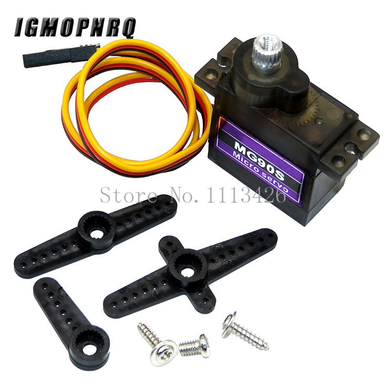 1pcs MG90S Metal gear Digital 9g Servo For Rc Helicopter plane boat car MG90 9G(China)