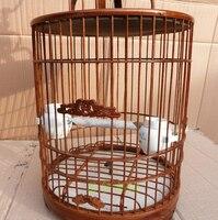 Бамбук клетки для дома украшения сада хобби Подарок Птица поставки Pet аксессуары