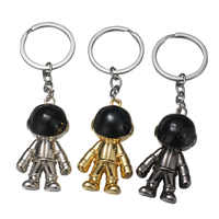 High Quality 2019 New 3D Astronaut Key chains Space Robot Key chain Zinc Alloy Keychain Pendant Gifts Key Ring Alloy