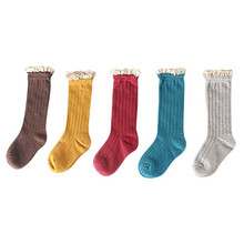 1Pairs 1 2019 autumn and winter new childrens Christmas socks thick terry cloth cotton