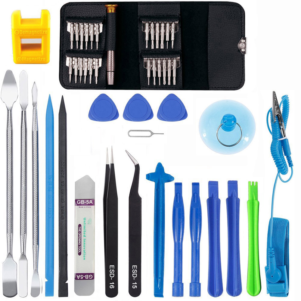 Professionelle 46 in 1 Handy-bildschirm Öffnungs Repair Tools Kit Schraubendreher Pry Zerlegen Werkzeug-set für iPhone Samsung