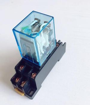 Relé intermedio LY2NJ JQX-13F electromagnético pequeño potencia relé con Base 8 pines DC12V AC12V DC24V AC24V AC110V AC220V
