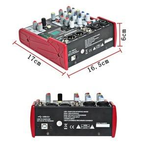 Image 2 - Freeboss UM 66 4 ערוצים 16 אפקטים דיגיטליים 24 קצת Dsp מעבד כרטיס קול (אולם חדר צלחת עיכוב הד) להקליט אודיו מיקסר