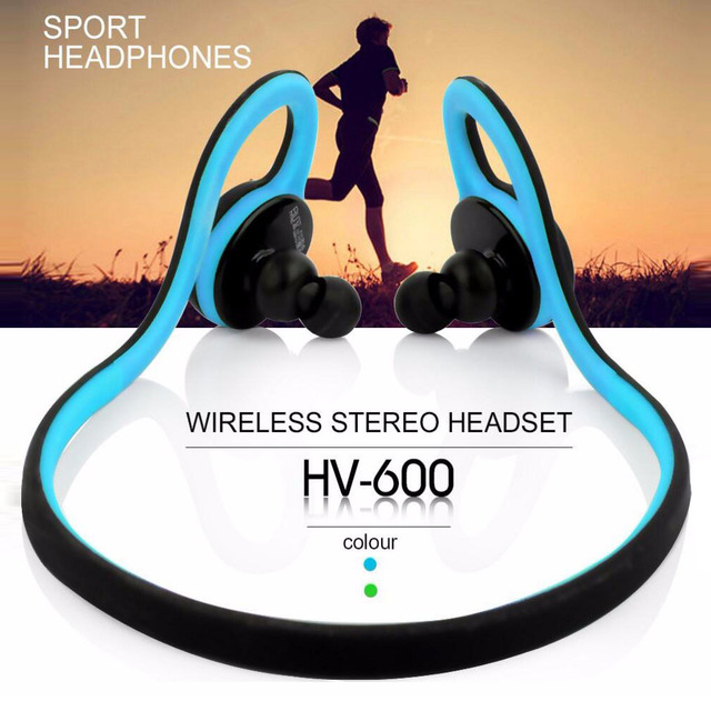 2016 New HV600 Neckband Bluetooth Wireless Headset with Microphone Waterproof Headphone for Sports Running Mobile Phone 5pcs/lot
