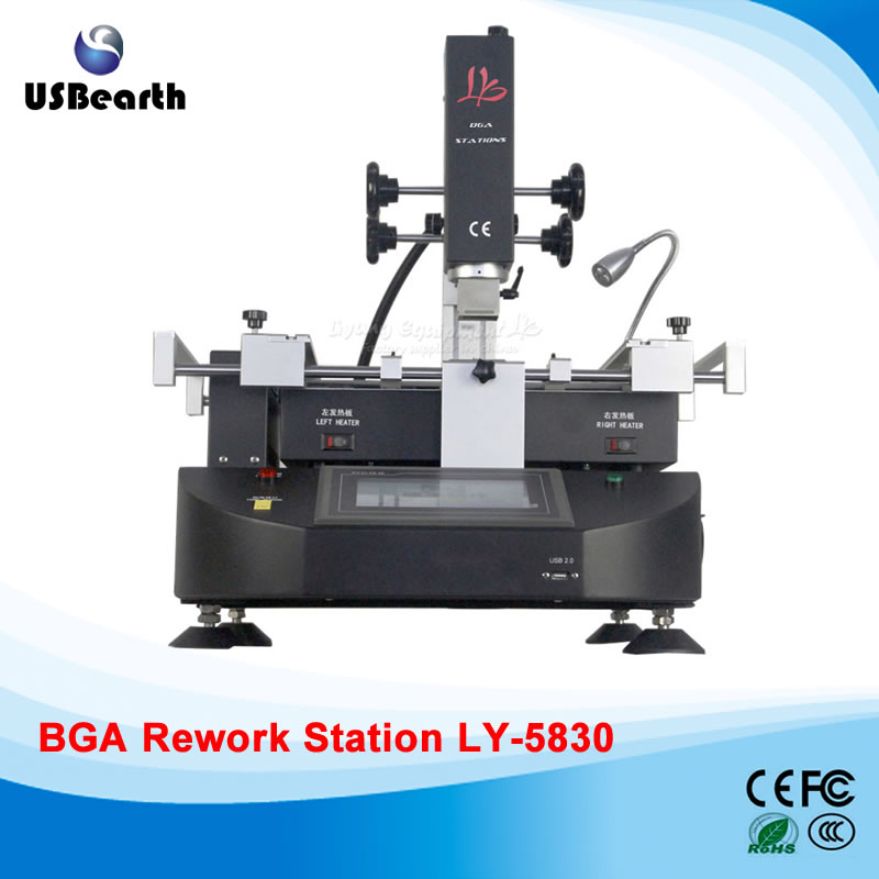 4500W LY-5830 touch screen BGA Rework Station hot air 3 zones for Laptop Motherboard Chip Repair 4500W, Free tax to EU